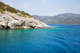 Turquoise water of Mediterranean sea in Bodrum, Turkey - 241732901