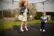 Quadro Bouncing on the Trampoline