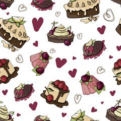 Vector desserts and sweets © Maria Zamchiy