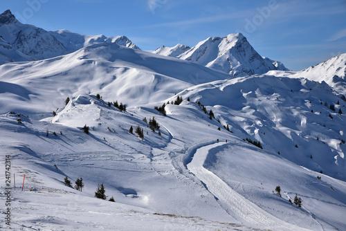 obraz lub plakat Sommets enneigés de l'Oberland bernois, Suisse