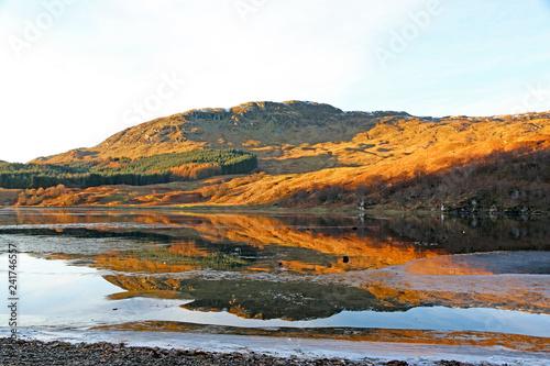 Loch Lubhair, Scotland in winter