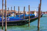 Gondola in the pier in Venice, Italy
