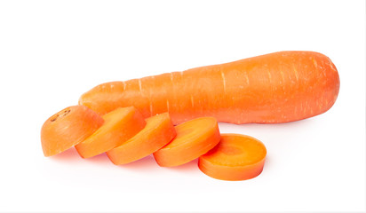 Carrots isolated on white background © Yutthasart
