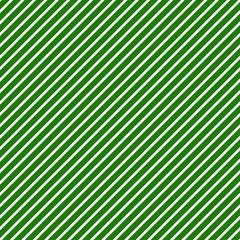 Diagonal Stripes Seamless Pattern - Thin white diagonal stripes on green background