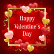 Red background for Valentine's day