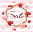 Background for Valentine's day sale