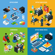 Business Isometric Design Concept