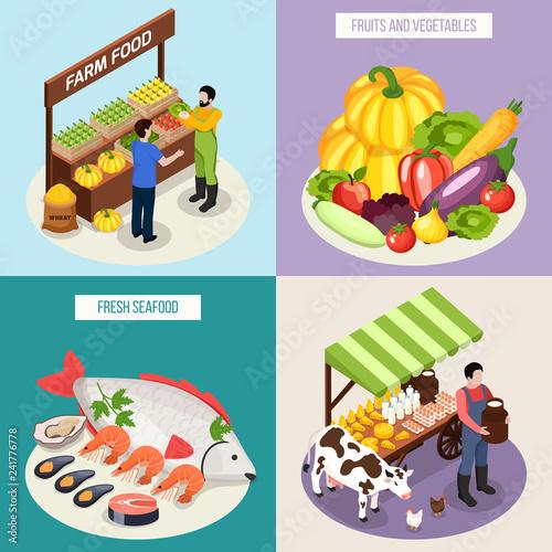 Farmer Market 2x2 Design Concept - 241776778