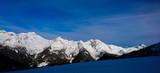 Schnee bedekte Berge