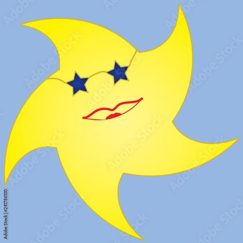 Cartoon-Summer Sun