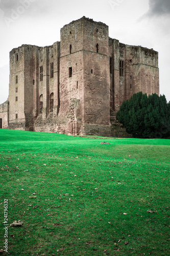 View of historic Medieval Castle ruins, Kenilworth in Warwickshire, United Kingdom