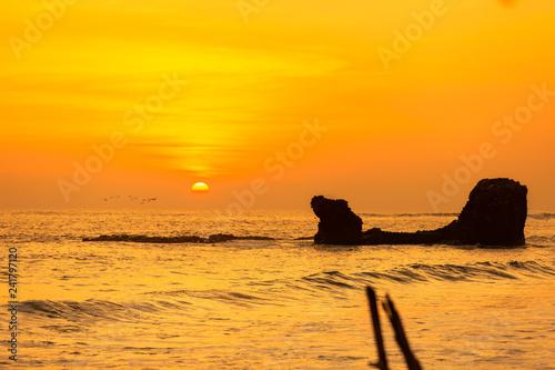 obraz lub plakat Sunset - Playa El Tunco, El Salvador