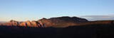 Panorama of Sunrise Over Sedona Arizona from Schnebly Hill Road