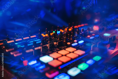 DJ mixer controller panel for playing music and partying - 241815305