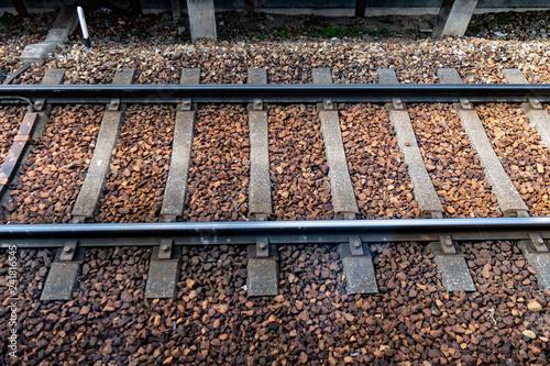 電車のレール クローズアップ