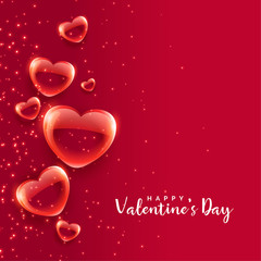 red bubble hearts floating valentines day background © starlineart