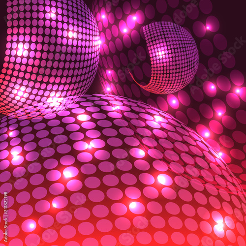 Abstract Disco Purple - 241822198
