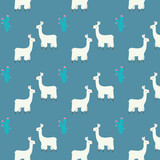 Pattern illustration of cute llama