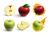Apples Realistic Set - 241831935