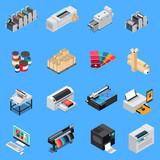 Printing House Isometric Set  - 241832129