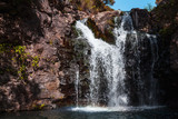 Waterfall of Calheta Levada. Madeira