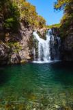 Waterfall on Calheta Levada, Madeira island