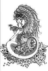floral, design, dragon, abstract, illustration, art, pattern, flower, vintage, vector, tattoo, black, decoration, white, frame, gold, ornament, leaf, graphic, traditional, decorative, symbol, drawing,