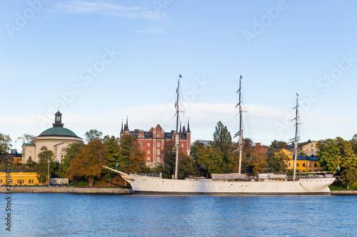 Blasieholmen peninsula in Stockholm, Sweden