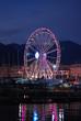 Ruota panoramica gigante sul lungomare di Salerno, per le luci d'artista.