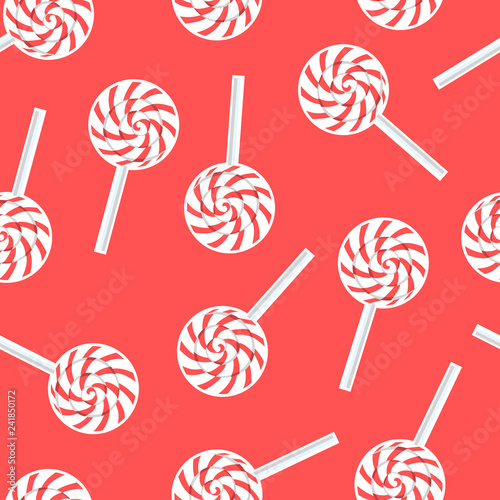 obraz lub plakat Caramel seamless pattern. Vector illustration design Candy shop background