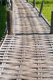 Bamboo weave walk way bridge