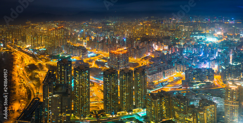 obraz PCV Hong Kong skyline view from Sky 100 observation deck, Panorama