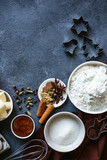 The process of making christmas cookies. Cozy atmosphere. - 241866511