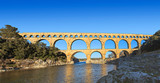 famous roman bridge in the south of france