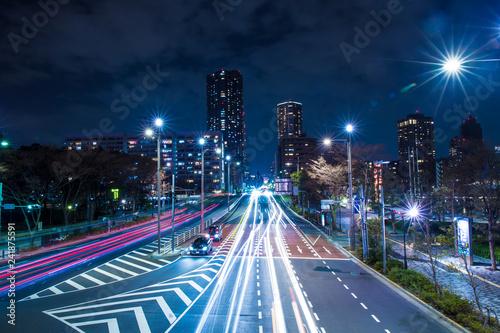 obraz PCV 交通 東京 夜