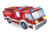 Fototapeta London - wóz strażacki © Anita