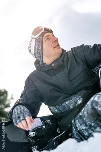 obraz PCV Snowboarder