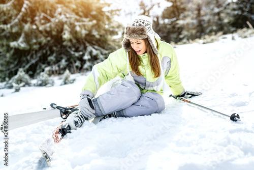 obraz lub plakat Skiing Accident