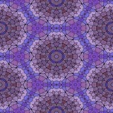 mosaic kaleidoscope seamless pattern texture background - purple, violet, mauve and blue colored with black grout - 241903392
