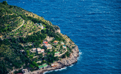Typical houses of the Amalfi Coast, Italy