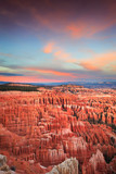 Brilliant Sunset at Bryce Canyon National Park at Inspiration Point Overlook