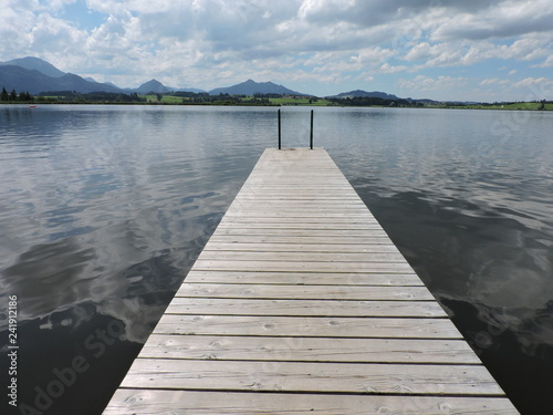 Acrylglas Pier Steg Ufer see