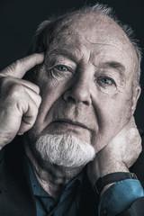 pensive old man