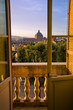 Quadro Rome skyline at sunset seen from a palace in Italy