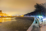 Moscow, Russia - December, 28, 2018: embankment of Moscow river - 241920970