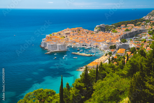 Old town of Dubrovnik in summer, Dalmatia, Croatia - 241930999