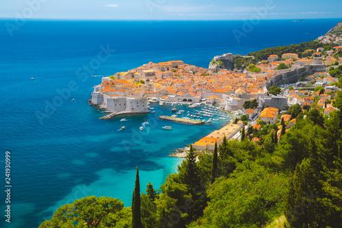 Leinwandbild Motiv Old town of Dubrovnik in summer, Dalmatia, Croatia