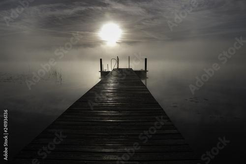 Acrylglas Pier pier at sunset