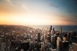 new york city skyline at sunset - 241936995