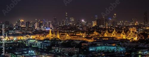 Sticker city at night